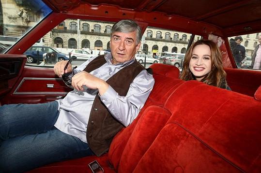 Miroslav a Kristína v taxíku