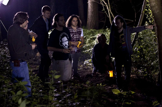 Foto z natáčení klipu Vteřina kapely Nebe