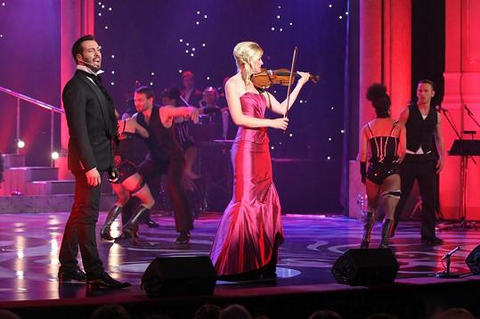 Vašek na pódiu s Gabrielou Demeterovou
