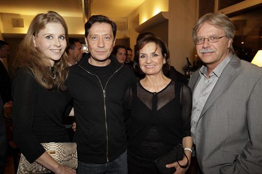 Michaela Hořejší, Pavel Kříž, Veronika Freimanová a Vladimír Bouček