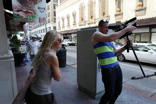 Natáčení v losangeleských ulicích