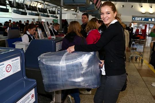 Bez problémů prošla se svým zavazadlem Gábina Franková.