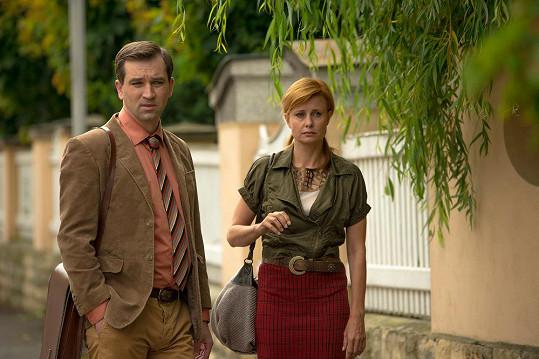 Sokol se svou filmovou manželkou Jitkou Schneiderovou