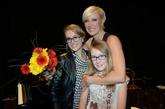 Renata s dcerami Karolínou a Natálkou