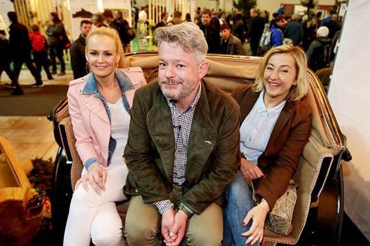 Na zemědělském veletrhu v Brně se potkala s Luckou Hadašovou a Alešem Hámou.