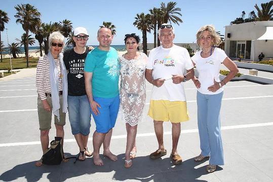 S ředitelem Muže roku Davidem Novotným a dalšími známými tvářemi, které do tuniského Sousse vyrazily.