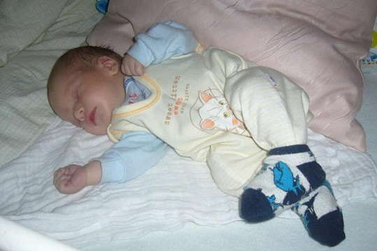 Malý Patrik se narodil 17. prosince.