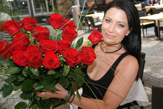 Z růží měla Gábina nefalšovanou radost.