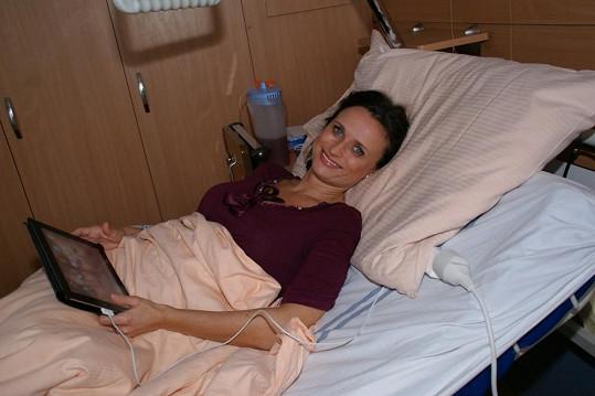 Jana Adamcová měla včera odpoledne důvod k úsměvu.