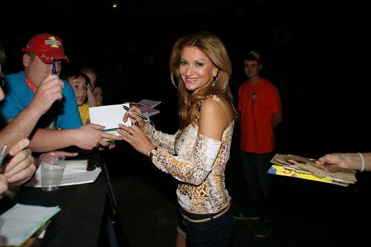 Yvetta Blanarovičová rozdávala autogramy nadšeným fanouškům.
