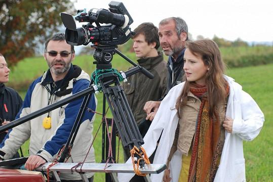 Záběr z natáčení