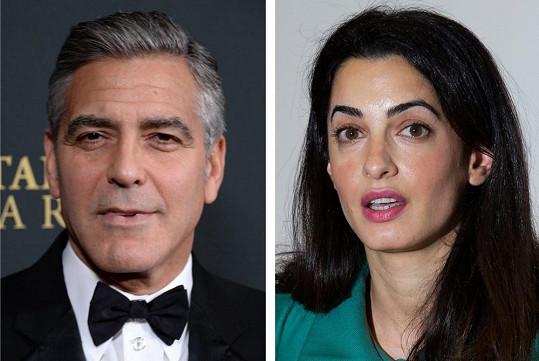 George Clooney a Amal Alamuddin se nejspíš budou brát.