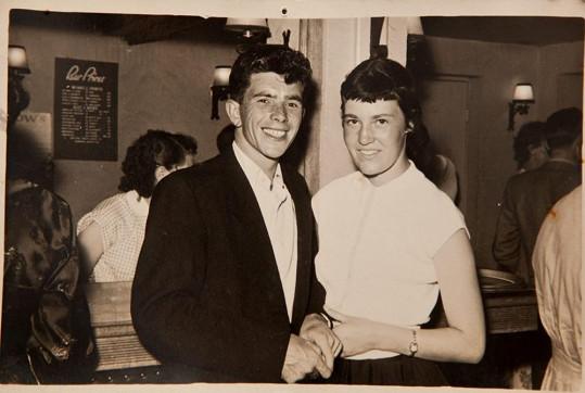 Jean Woods s manželem Paulem na snímku z roku 1952