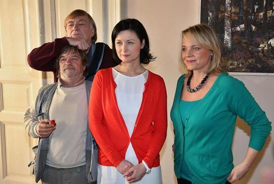 S kolegy Romanem Skamene, Simonou Chytrovou a režisérem Vítem Olmerem