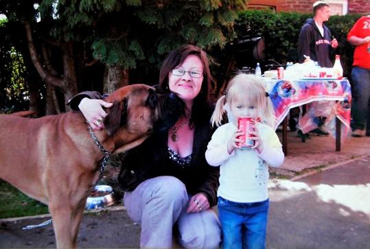 Wendy s fenkou Cassie a vnučkou