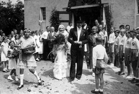 Slavná svatba se konala v roce 1933.