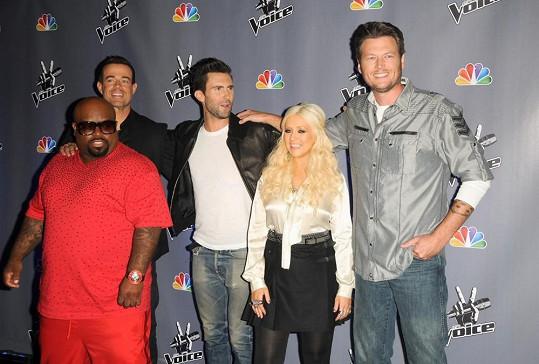 Aguilera v porotě The Voice v roce 2011.