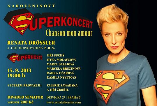 Renata oslaví padesátiny speciálním koncertem plným hostů.