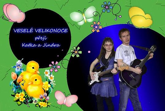 Katka a Jindra vám přejí krásné Velikonoce.