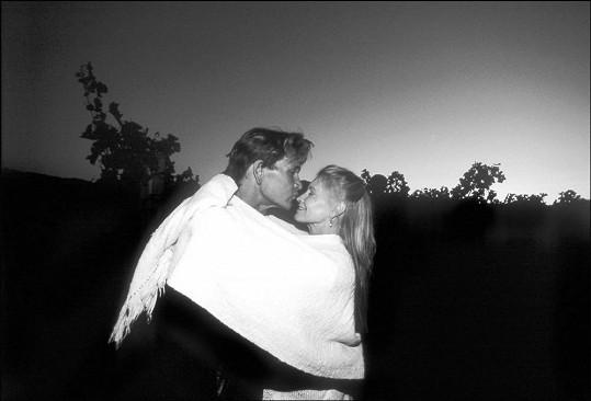 Tahle láskyplná fotka vznikla pět let před Patrickovou smrtí.