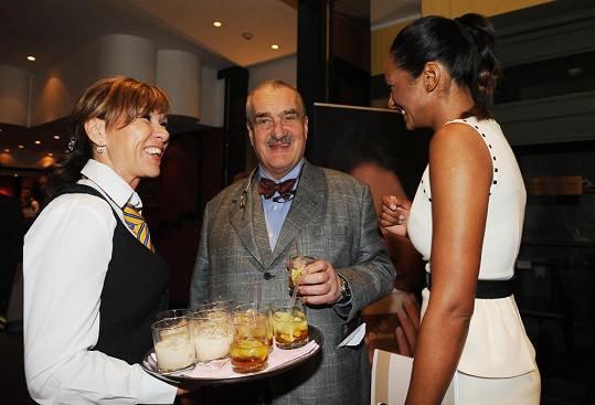 Na párty po dražbě s Karlem Schwarzenbergem