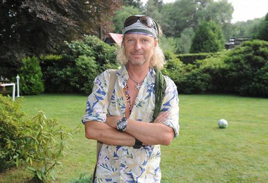 Nagy na zahradní párty u Petra Jandy