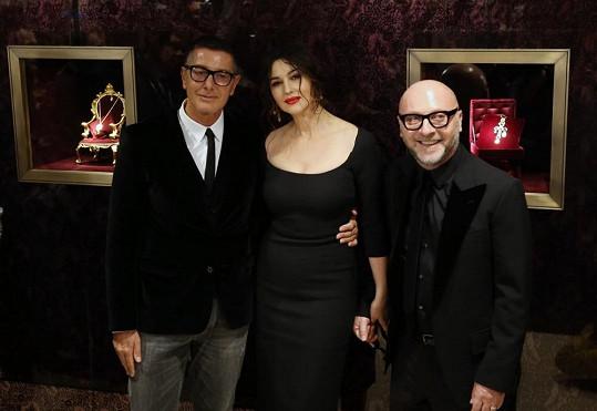 Světově proslulá Italka s neméně slavnými krajany - návrháři značky Dolce&Gabbana