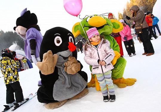 A užila si odpoledne pro děti, které se pořádalo v rámci ski openingu nové sezóny.