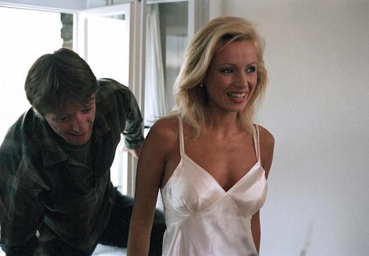 Kateřina s Jiřím Langmajerem v Bakalářích
