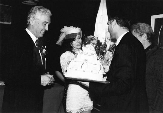 Svatba s Ivo Pavlíkem v roce 1992