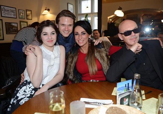 Sklovska s dalšími porotci X Factoru