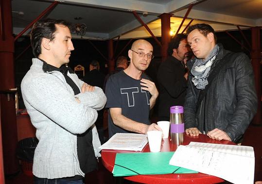 Jan Urban a Tomáš Trapl chtějí hrát ředitele, Jan Kříž milovníka Raoula.