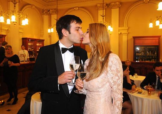 Gabriela Franková s přítelem