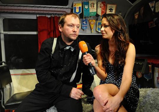 Agáta dělala na premiéře rozhovory.