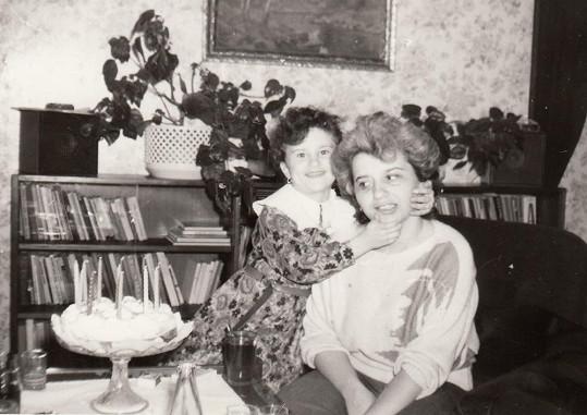 Bára Kozáková s maminkou