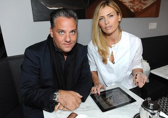 Daniela se svým manažerem Sašou Jánym.