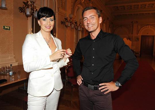 Daniela s kolegou Petrem Vondráčkem.