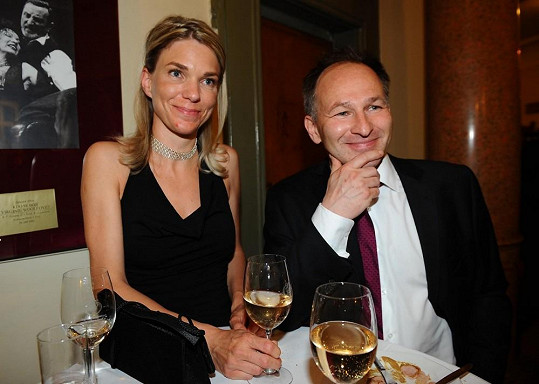 Marek Wollner s manželkou Kateřinou.
