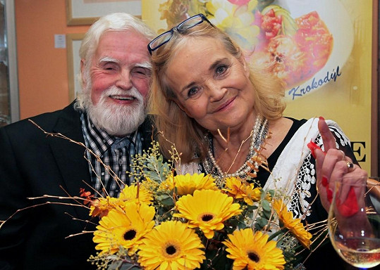 Gabriela Vránová s manželem, matematikem Jiřím Kepkou.