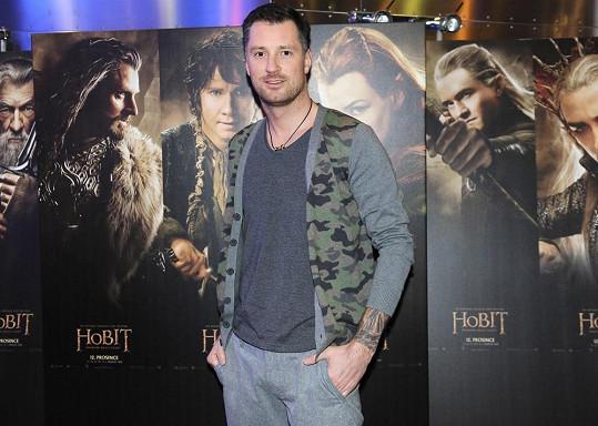 Petr Vágner přišel do kina sám.