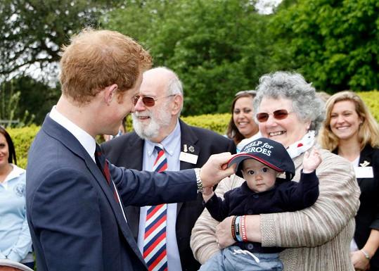 Princ Harry na starším snímku