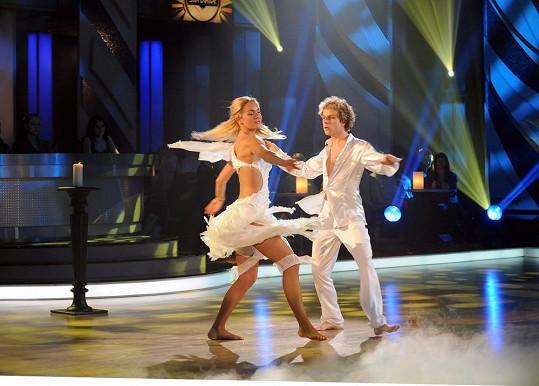 Volný tanec Kuchařové a Ondera.
