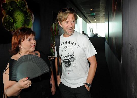 Jiří Langmajer s Hankou Křížkovou na párty Mamma Mia!