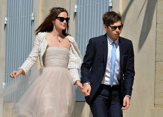 Keira Knightley s manželem Jamesem Rightonem.
