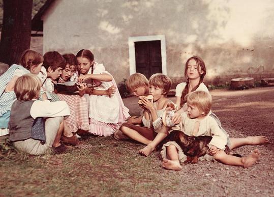 Libuše Šafránková s dětmi