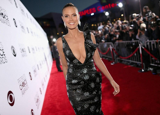 Heidi Klum na udílení People´s Choice Awards v Los Angeles