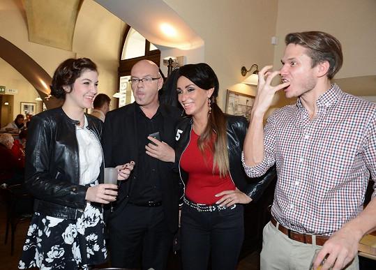 Ondřej s kolegy z X Factoru