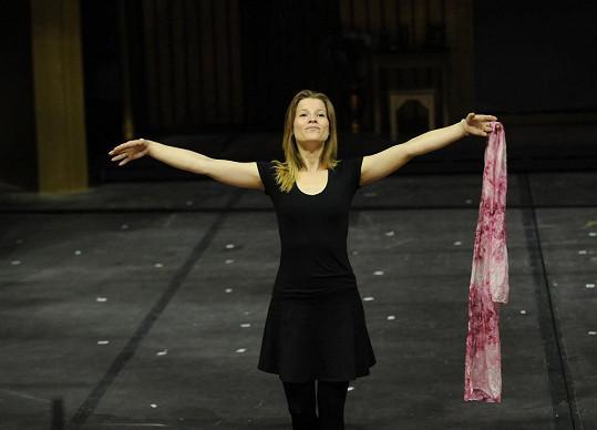 Michaela Gemrotová bude hrát hlavní ženskou roli, a tak musí pořádně makat.