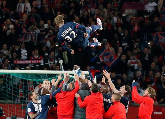 David Beckham chtěl odejít na vrcholu. Loučil se ve velkém stylu - mistrovským titulem ve francouzské lize.