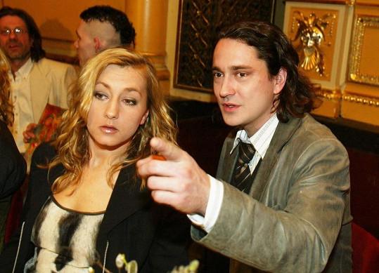 Slavný pár na udílení Thálií v roce 2005